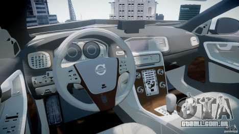 Volvo S60 Macedonian Police [ELS] para GTA 4 vista direita