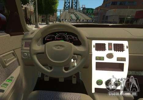 VAZ 2170 de Lada Priora para GTA 4 rodas