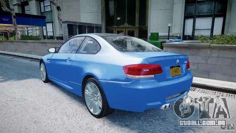 BMW M3 E92 2008 v.2.0 para GTA 4 traseira esquerda vista