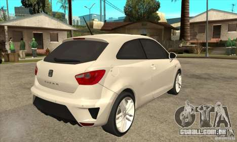 Seat Ibiza Cupra 2009 para GTA San Andreas vista direita