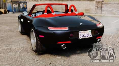 BMW Z8 2000 para GTA 4 traseira esquerda vista