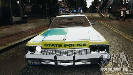Dodge Monaco 1974 Police v1.0 [ELS] para GTA 4 rodas