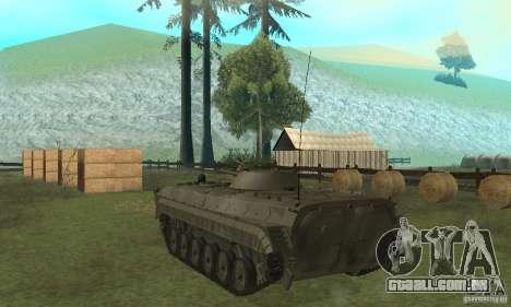 BMP-1 cinza para GTA San Andreas traseira esquerda vista