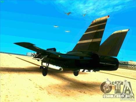 F-14 Tomcat Schnee para GTA San Andreas traseira esquerda vista