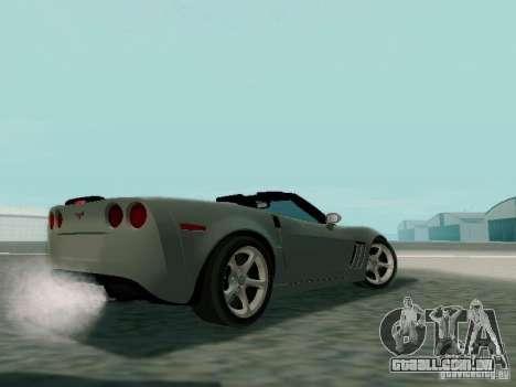 Chevrolet Corvette C6 GS Convertible 2012 para GTA San Andreas traseira esquerda vista