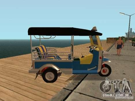 Tuk Tuk Thailand para GTA San Andreas esquerda vista