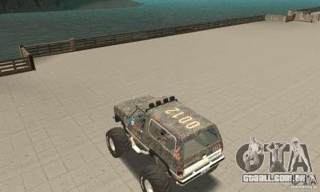 Chevrolet Blazer K5 Monster Skin 6 para GTA San Andreas traseira esquerda vista
