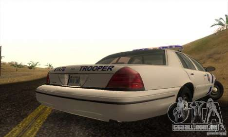Ford Crown Victoria Arkansas Police para GTA San Andreas esquerda vista