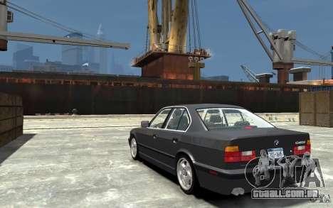 BMW 540i E34 v3.0 para GTA 4 traseira esquerda vista