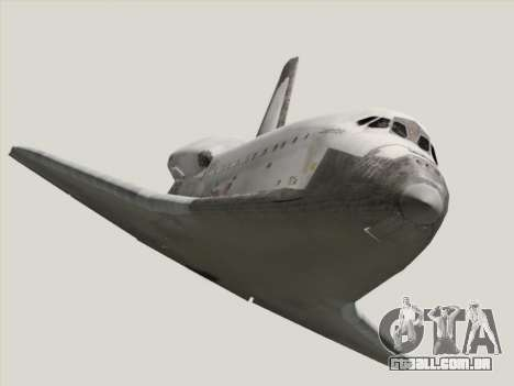 Space Shuttle para GTA San Andreas vista traseira