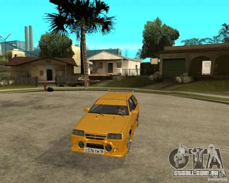 ВАЗ 2108 esporte Yucca para GTA San Andreas vista traseira