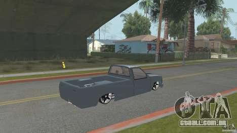 Chevrolet Silverado Mini Truckin 1996 para GTA San Andreas esquerda vista