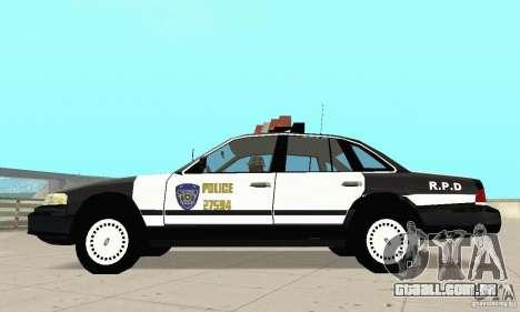 Ford Taurus 1992 Police para GTA San Andreas esquerda vista
