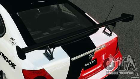 Scion TC Fredric Aasbo Team NFS para GTA 4 vista superior