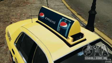 Ford Crown Victoria NYC Taxi 2004 para GTA 4 rodas