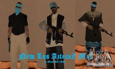 New Los Aztecas skins para GTA San Andreas