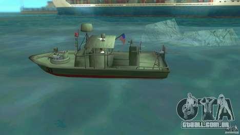 Rio do barco de patrulha Mark 2 (Player_At_Wheel para GTA Vice City deixou vista