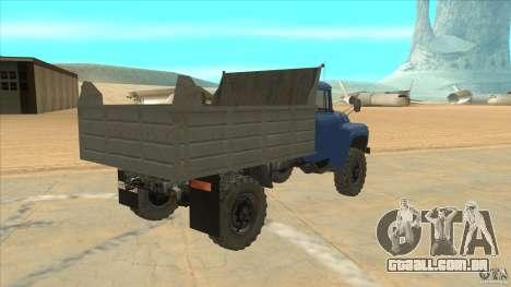 ZIL-MMZ 4502 movimentação de quatro rodas para GTA San Andreas vista direita