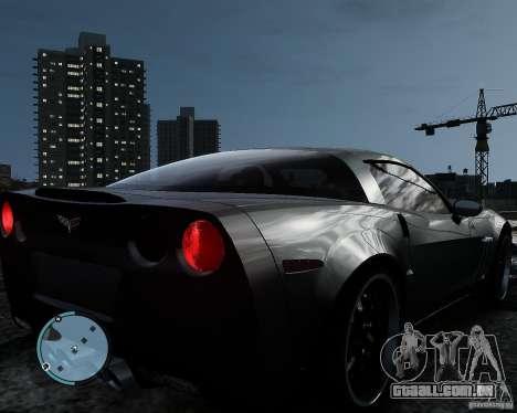 Chevrolet Corvette Grand Sport 2010 para GTA 4 traseira esquerda vista