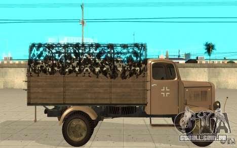 MERCEDES-BENZ L3000 v2.0 para GTA San Andreas esquerda vista