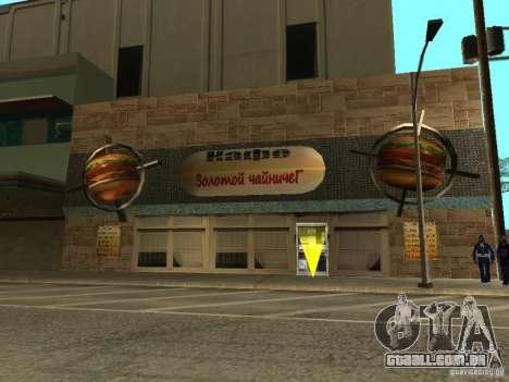 Nova Burgershot: ČajničeG de ouro para GTA San Andreas