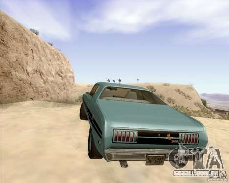 Dodge Demon 1971 para GTA San Andreas traseira esquerda vista