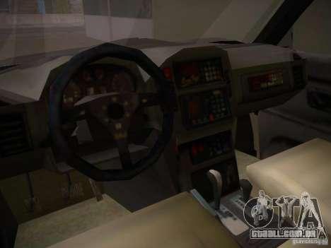 Mitsubishi Pajero para GTA San Andreas vista interior