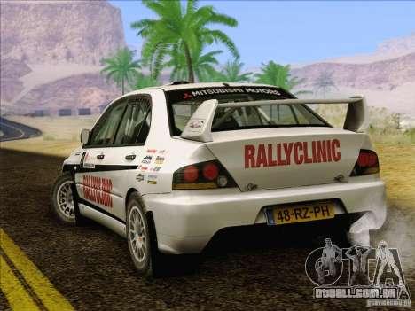 Mitsubishi Lancer Evolution IX Rally para o motor de GTA San Andreas