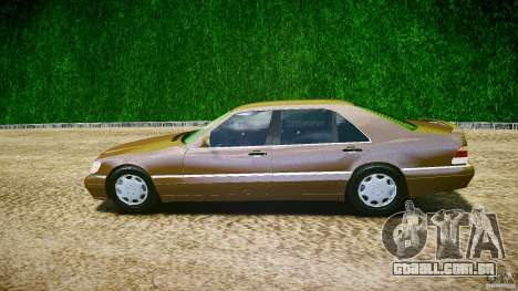 Mercedes Benz SL600 W140 98 performance shafter para GTA 4 esquerda vista