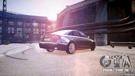 Audi A6 v1.0 para GTA 4 traseira esquerda vista