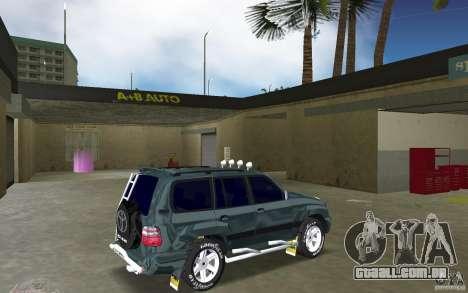 Toyota Land Cruiser 100 para GTA Vice City vista direita