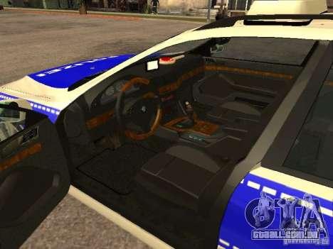 BMW 525i Touring Police para GTA San Andreas traseira esquerda vista