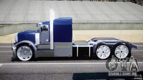 Peterbilt Truck Custom para GTA 4 vista interior