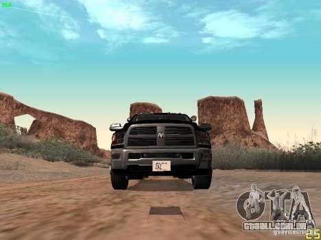 Dodge Ram 3500 Unmarked para vista lateral GTA San Andreas