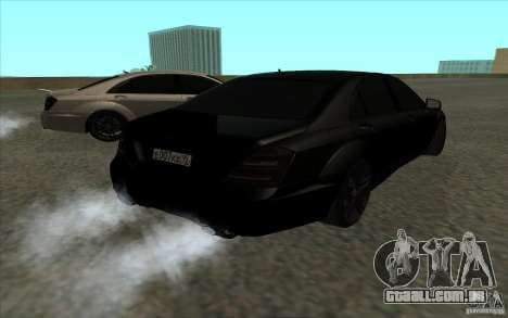Mercedes-Benz S65 AMG para GTA San Andreas vista interior