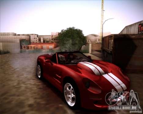 Shelby Series One 1998 para GTA San Andreas traseira esquerda vista