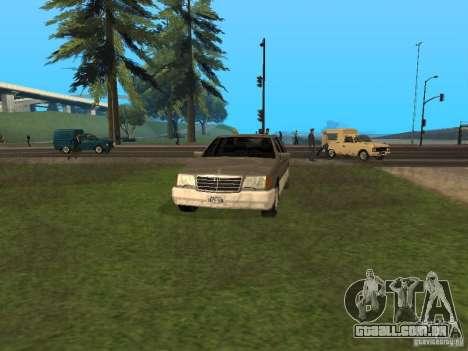 Mercedes-Benz 600SEL W140 para GTA San Andreas esquerda vista