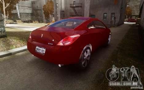 Pontiac G6 para GTA 4 vista de volta
