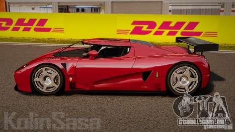 Koenigsegg CCGT Stock para GTA 4 esquerda vista