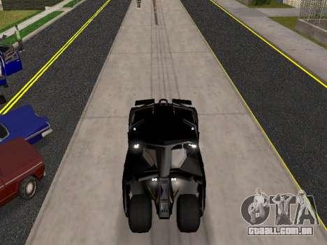 Tumbler Batmobile 2.0 para GTA San Andreas