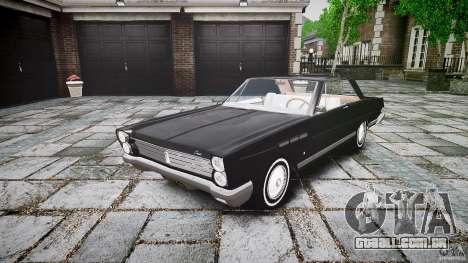 Ford Mercury Comet Caliente Sedan 1965 para GTA 4 vista de volta