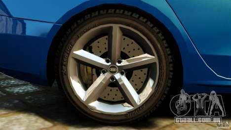 Audi A4 2010 para GTA 4 vista superior