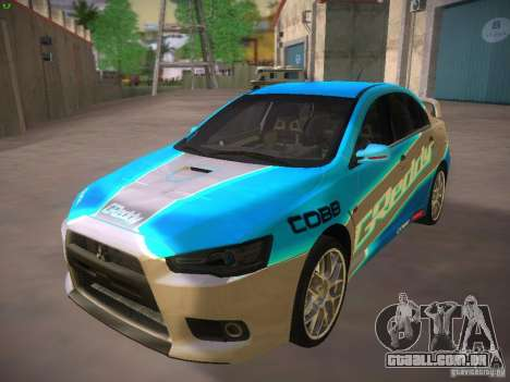 Mitsubishi Lancer Evo X Tunable para GTA San Andreas vista superior