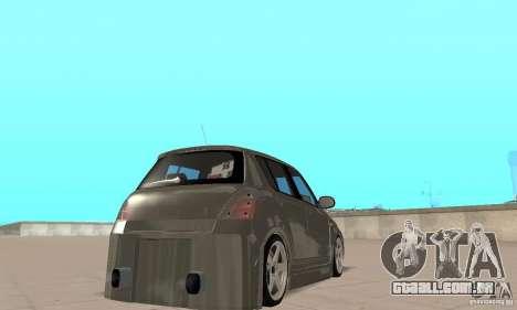 Suzuki Swift Tuning para GTA San Andreas esquerda vista