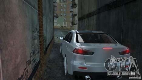Mitsubishi Lancer EVO X para GTA 4 traseira esquerda vista