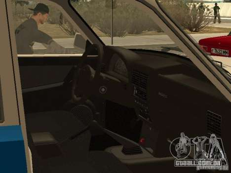 GAZ 3110 polícia para GTA San Andreas vista direita