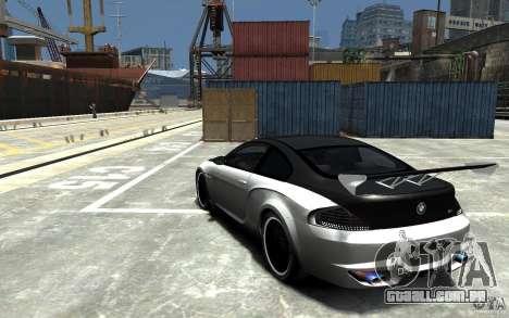 BMW M6 Tuning para GTA 4 traseira esquerda vista