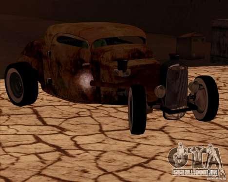 Ford Rat Rod para GTA San Andreas traseira esquerda vista