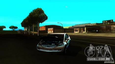 Mercedes-Benz A200 Turbo para GTA San Andreas vista traseira