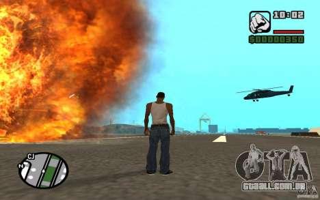 Apoio aéreo quando atacando. para GTA San Andreas por diante tela